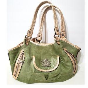Kathy Van Zeeland Green Shoulder Bag